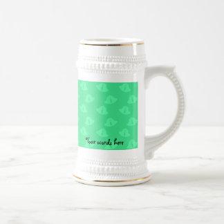 Light green christmas bells beer steins