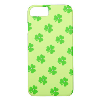 Light green clover for St. Patrick's day iPhone 7 Case