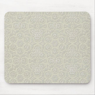 light green cream lace pattern background mouse pads