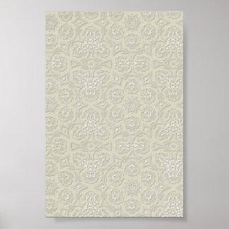 light green cream lace pattern background print