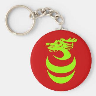 Light Green Dragon in Egg Keychain