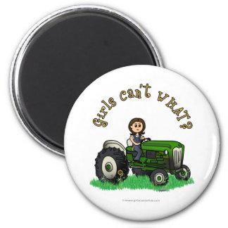 Light Green Farmer 6 Cm Round Magnet
