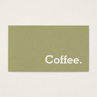 Light Green Flannel Loyalty Coffee Punch-Card