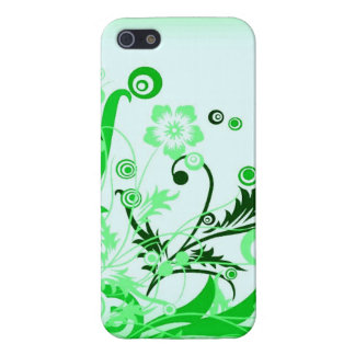 Light Green-Floral-Design-Vector-Graphic Case For iPhone 5/5S