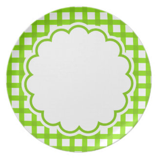 Light Green Flower Plate