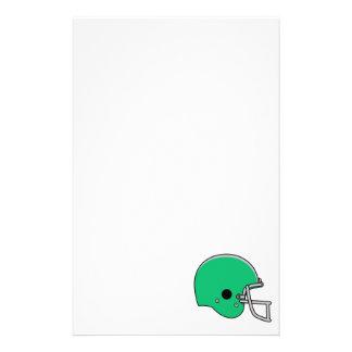 Light Green Football Helmet Stationery