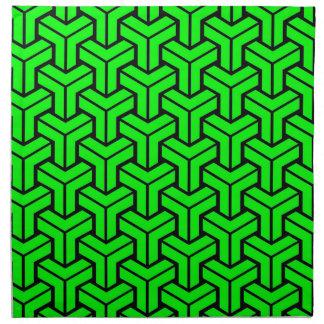 Light Green Geometric Pattern Napkin