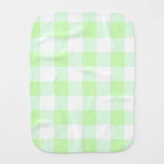 Light Green Gingham Check Pattern Burp Cloth