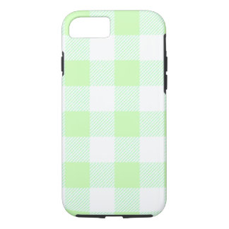 Light Green Gingham Check Pattern iPhone 8/7 Case