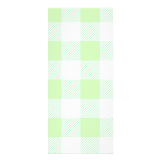 Light Green Gingham Check Pattern Rack Card