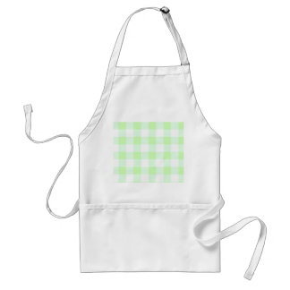 Light Green Gingham Check Pattern Standard Apron