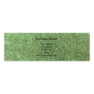 Light green glitter business card template