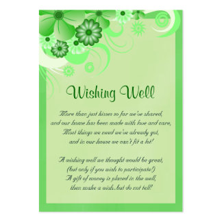 Light Green Hibiscus Wedding Wishing Well Cards Pack Of Chubby Business Cards