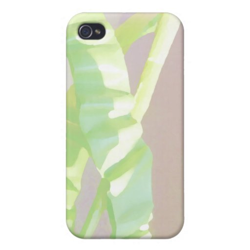 Light Green Leaves. Covers For iPhone 4