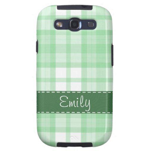 Light Green Plaid; Cute Samsung Galaxy SIII Case