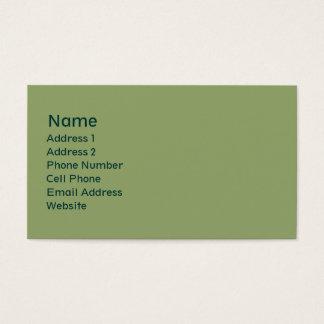 light green plain business card