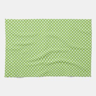 Light Green Polka Dots Tea Towel