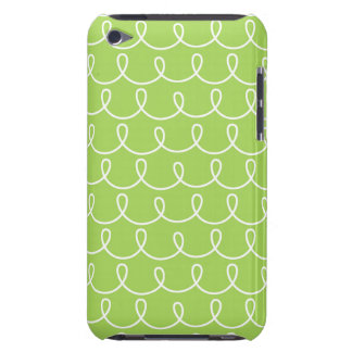 Light Green Retro Colorful Modern Doodles iPod Touch Cases