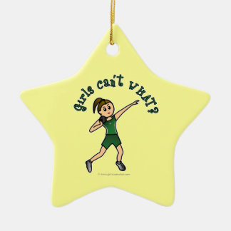 Light Green Shot Put Ceramic Star Decoration