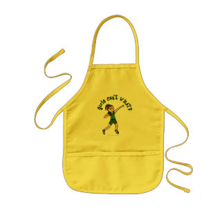 Light Green Shot Put Kids Apron