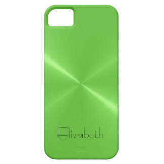 Light Green Stainless Steel Metal Look Barely There iPhone 5 Case
