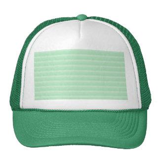 Light Green Stripe Pattern. Cap