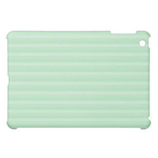 Light Green Stripe Pern. iPad Mini Cover