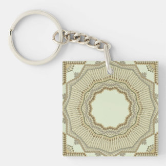 Light Green Tile Double-Sided Square Acrylic Key Ring