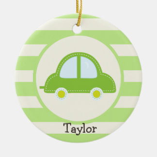 Light Green Toy Car Christmas Ornament