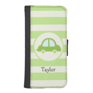 Light Green Toy Car iPhone 5 Wallets