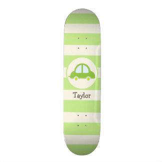 Light Green Toy Car Skate Deck