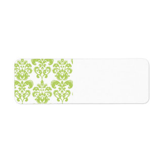 Light Green Vintage Damask Pattern 2
