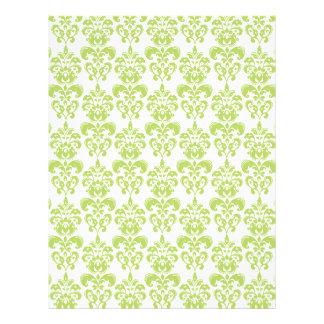 Light Green Vintage Damask Pattern 2 Flyer Design