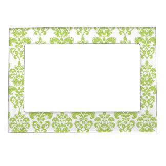 Light Green Vintage Damask Pattern 2 Frame Magnets