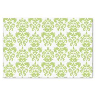 Light Green Vintage Damask Pattern 2 Tissue Paper