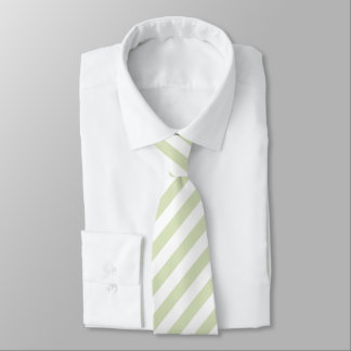 Light Green/White Striped Tie