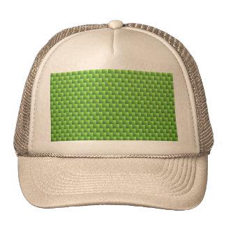light green wicker pattern, spring summer crafts cap