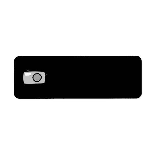 Light Grey and Black Camera. On Black.