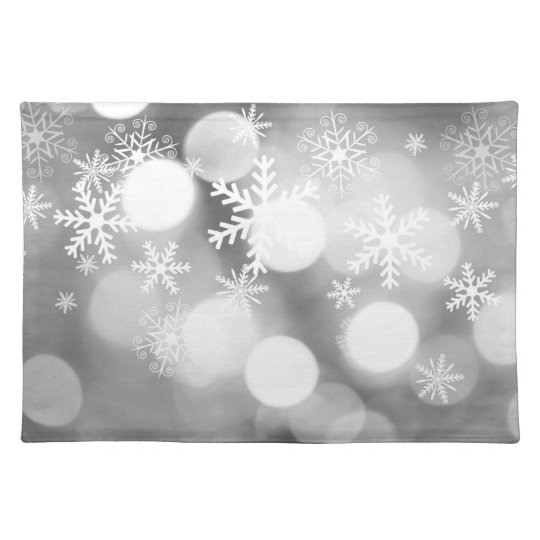 Light grey and white Christmas mat