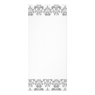 LIGHT GREY AND WHITE DAMASK PATTERN 2 RACK CARD