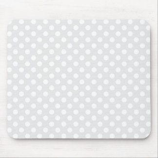 Light Grey and White Polka Dot Mouse Mat
