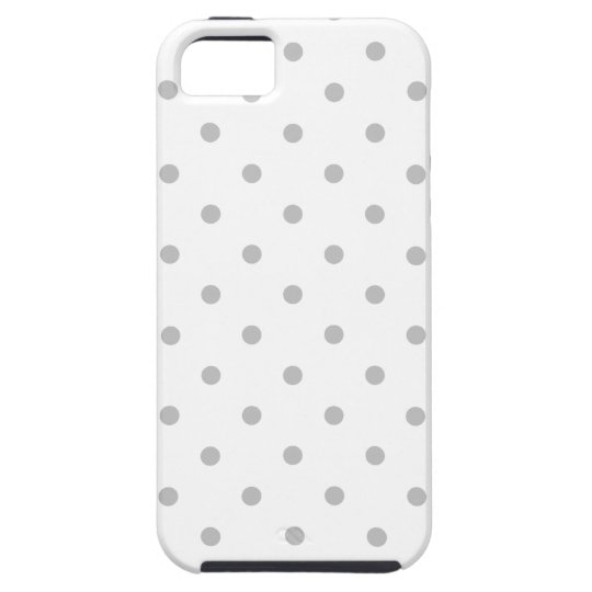 Light Grey and White Polka Dot Pattern. Case
