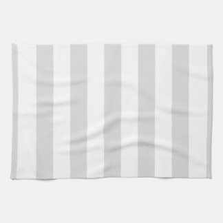 Light Grey and White XL Stripe Pattern Tea Towel