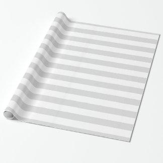 Light Grey and White XL Stripe Pattern Gift Wrap