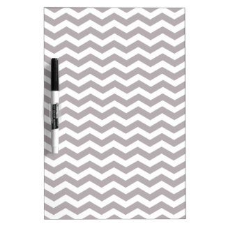 Light Grey And White Zigzag Chevron Pattern Dry Erase Board