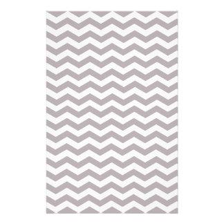 Light Grey And White Zigzag Chevron Pattern Stationery