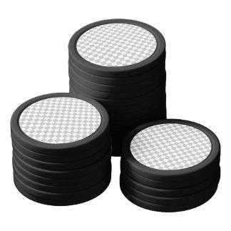 Light Grey Checkerboard Poker Chips