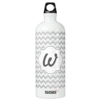 Light Grey Chevron - Custom Text SIGG Traveller 1.0L Water Bottle