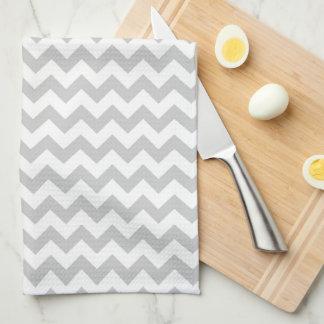 Light Grey Chevron - Custom Text Towel