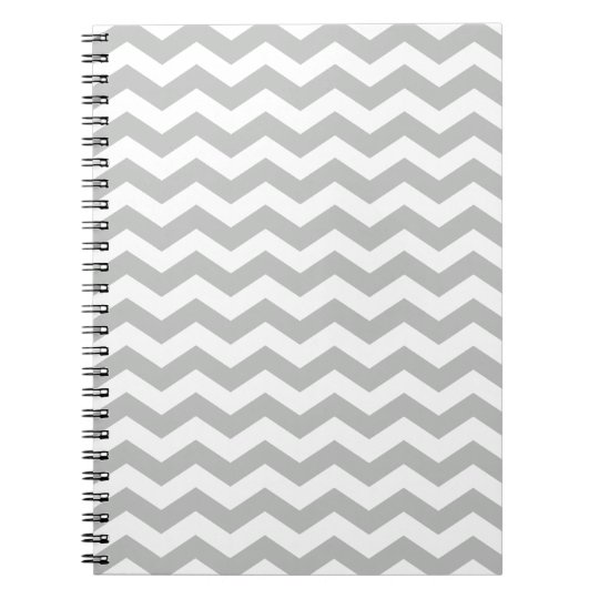 Light Grey Chevron Notebook